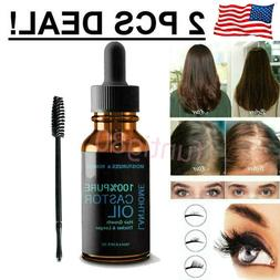 1/2Pcs Castor Oil 10ml Cold Pressed 100% Pure For Eyelashes