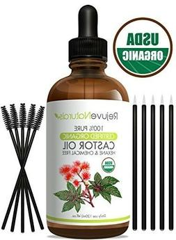100% Pure Organic Castor Oil, Hexane Chemical Free. Cold-Pre