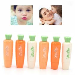 1Pc Carrot Lip Balm Herbal Dry Chapped Lips All Skin Type Ca
