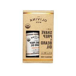 2 Olivina MEN 2-in-1 Shave Prep & Beard Oil organic 2 fl oz