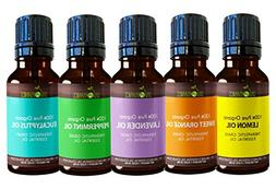 Sky Organics Top 5 Essential Oil Set Pure, Therapeutic Grade