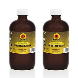 Tropic Isle Living Jamaican Black Castor Oil 8oz - Glass Bot