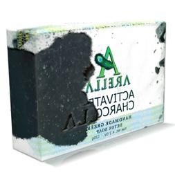 ARELLA - Activated Charcoal Detox Soap Bar, Handmade in Gree