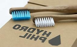 bamboo toothbrush with plant based castor oil bristles by Hy