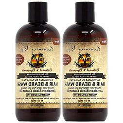 Sunny Isle Black Castor Oil Hair and Beard Wash 12oz