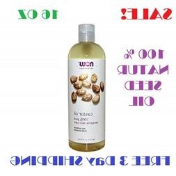 Castor Oil 100% Pure 16oz Organic Cold Pressed Hair Skin Eye