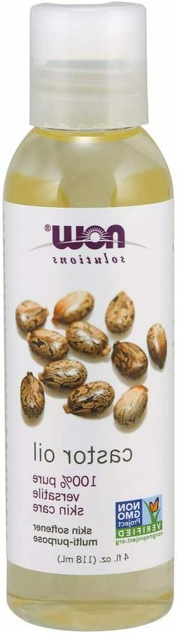 NOW Solutions 100% Pure Castor Oil for Hair & Skin Care Soft