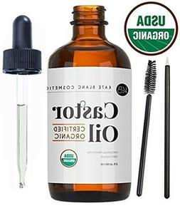 Castor Oil  USDA Certified Organic 100% Pure Cold Pressed He