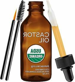 Pure Castor Oil for Eyelashes Eyebrows Hair Growth Skin and