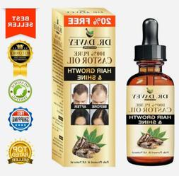Castor Oil For Hair Growth, Eyelashes, Brows, Beard:🥇100%