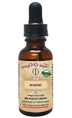 Organic CASTOR SEED OIL 1 oz 100% Pure Unrefined Cold Presse