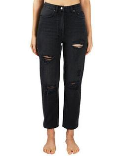 Ksubi Chlo Wasted Caster Oil Ripped Relaxed Ankle Cut Women'