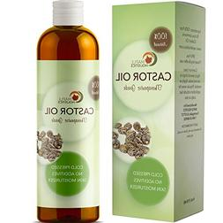 100% Pure Cold Pressed Castor Oil for Hair Growth Eyelashes