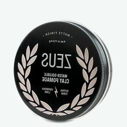 Zeus Extra Firm Clay Pomade for Men - Matte Finish, Verbena