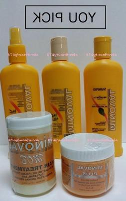 Minoval Hair Regrowth Shampoo/Cond./LeaveInCond/Hairdress/Tr