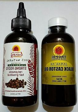 Jamaican Black Castor Oil 4oz + Strong Roots Red Pimento Hai