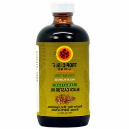 Tropic Isle Living Jamaican Black Castor Oil 8 oz - Glass Bo