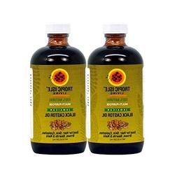 Tropic Isle Living Jamaican Black Castor Oil, 8 oz Glass Bot