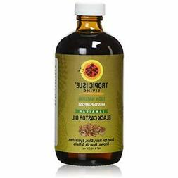 Tropic Isle Living Jamaican Black Castor Oil, 8 fl. oz.- Gla