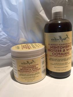 Shea Moisture JAMAICAN BLACK CASTOR OIL SHAMPOO & LEAVE-IN C