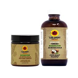 Tropic Isle Living Jamaican COCONUT Black Castor Oil & COCON