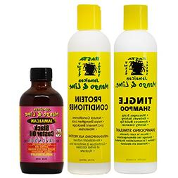Jamaican Mango & Lime Shampoo + Conditioner 8 oz + Black Cas