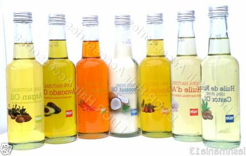 100 percent natural oils in different types