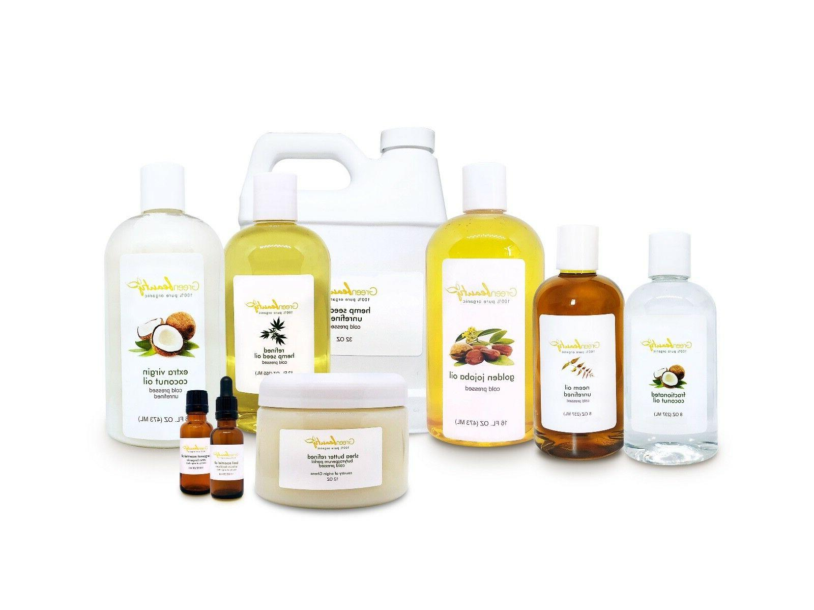 100 percent pure natural organic carrier oils