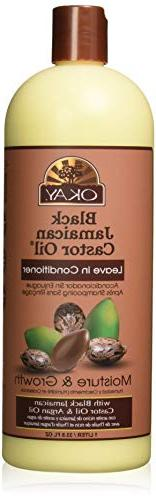 Okay Black Jamaican Castor Oil Leave In Conditioner, 33 Ounc