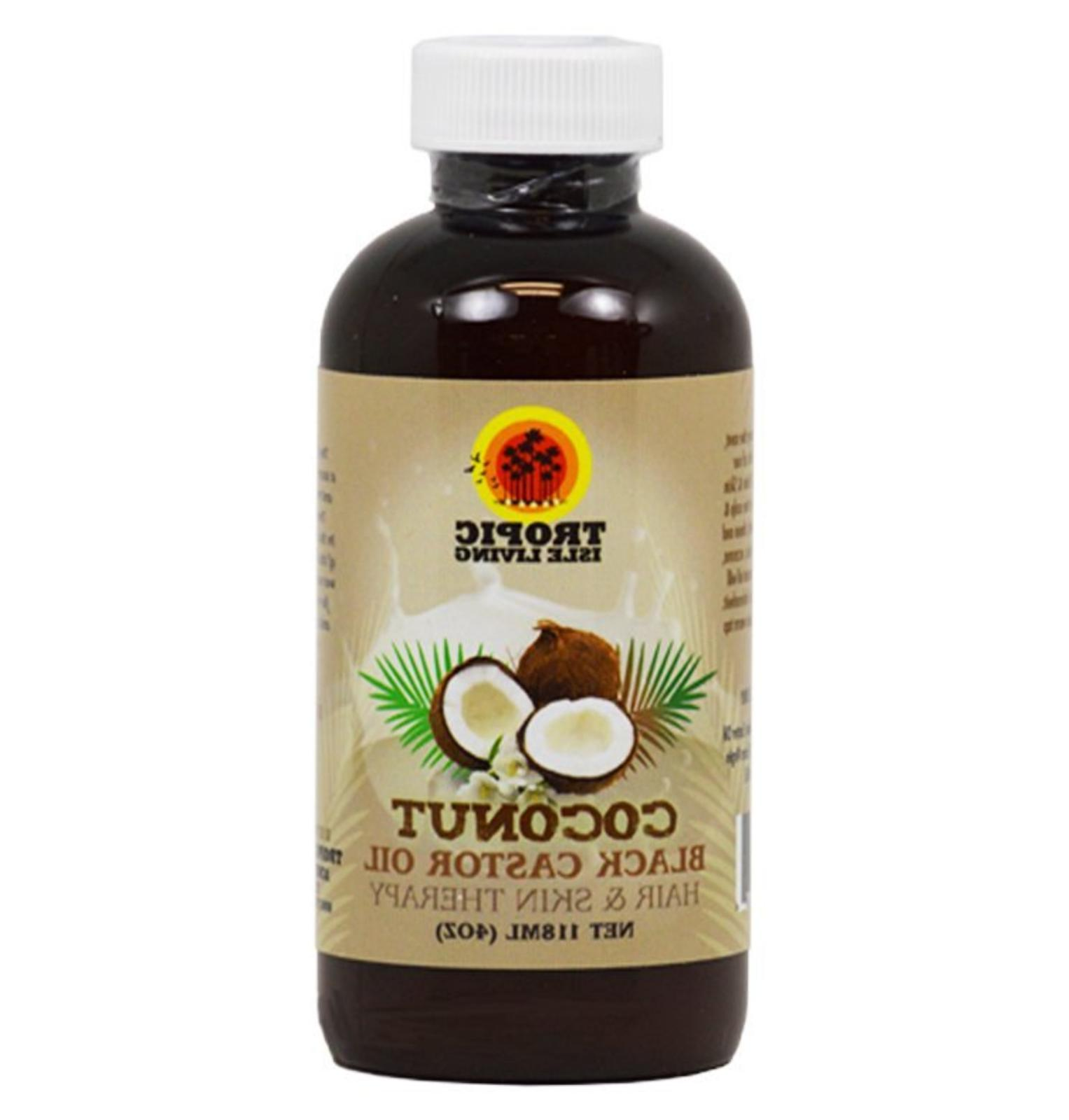 Tropic Isle Living Coconut Jamaican Black Castor Oil, 4 Ounc
