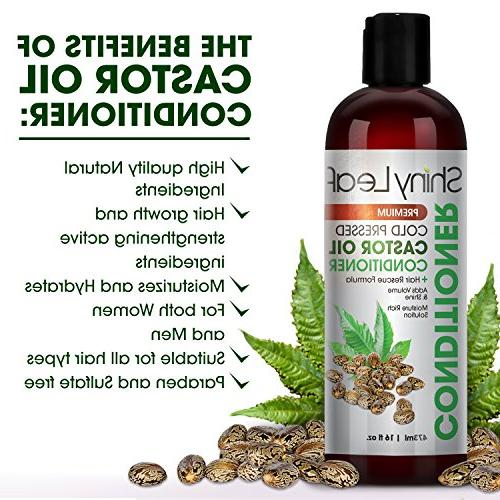 Cold Castor Conditioner – Hair Regrowth with Pressed Castor Oil, All Hair Types, Moisturizes Hair, Soft 16 oz