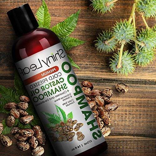 Shiny Leaf Cold Pressed Castor – Premium Hair Growth with Pressed Castor Oil, Types, Moisturizes Hair, Keeps Hair Soft Smooth, oz.