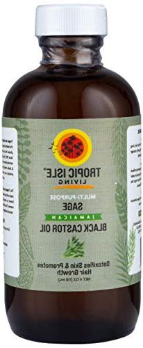 Tropic Isle Living Jamaican Black Castor Oil with Sage Plast