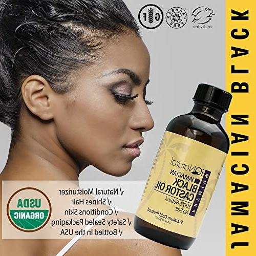 Jamaican Black Castor for Hair and Skin Cold-Pressed Bottle