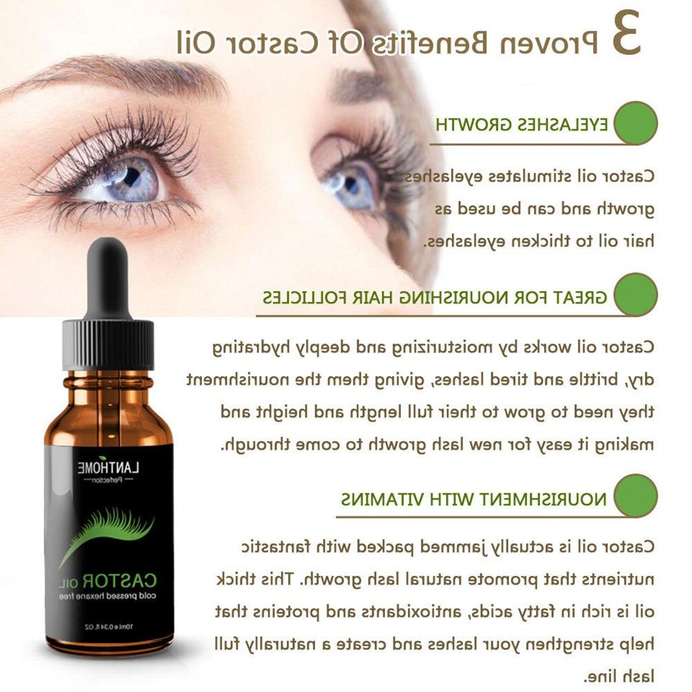 Lanthome 10 ml Eyebrow Eyelash Growth <font><b>Castor</b></font> Seed <font><b>Oil</b></font> Mild Maintenance Nourishing TSLM1