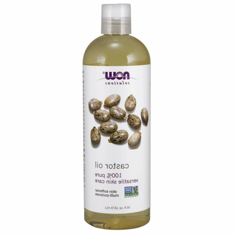 Now Solutions, Castor Oil, 100% Pure Versatile Skin Care, Mu