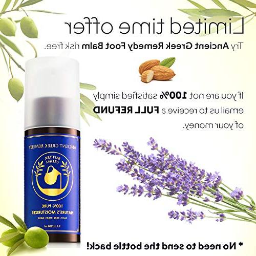 Organic Butter Cream Blend of Almond, olive & Grapeseed with Vitamin Moisturizer for Hair, Face, Cuticle, Beard, natural for
