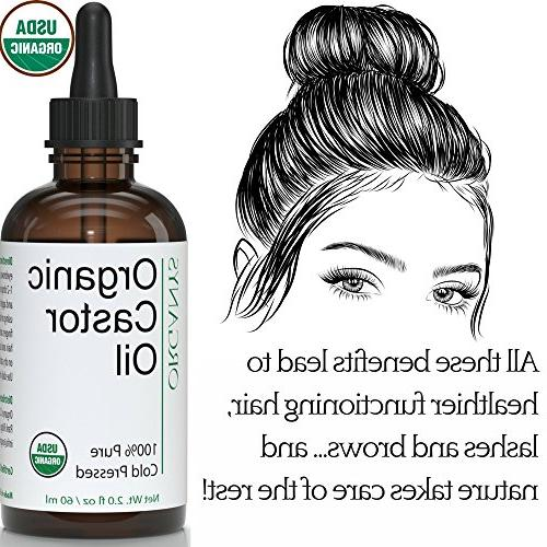 Organic Oil Fuller Thicker Looking Hair Eyelashes The Lash & Brow Growth. Serum Comes With & Brushes