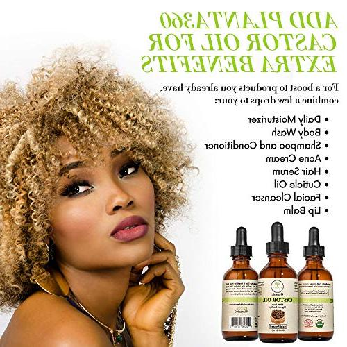 Organic Castor Hair - 100% Pure Cold Unrefined, Free Natural for Soft Eyelashes Growth FREE Kit