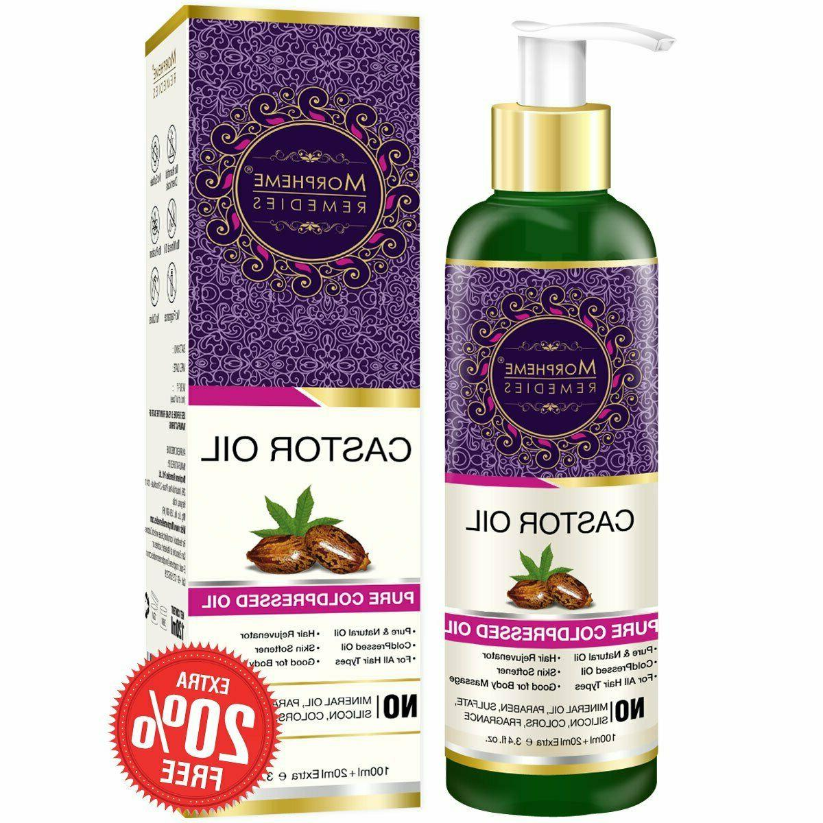 pure cold pressed castor oil for hair