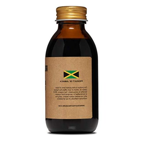 Organic Black Castor Oil By Rooted Treasure 4oz: Traditionally In Jamaica Pure No Added-Promotes Hair With Eczema And More.