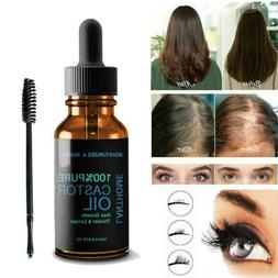 Natural Pure Organic Castor Oil for Eyelashes,Eyebrows,Hair