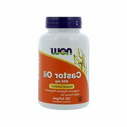 NOW Supplements, Castor Oil 650 mg with Fennel Oil, 120 Soft