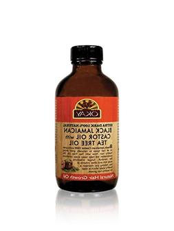 Okay Extra Dark Black Jamaican Castor Oil with Tea Tree Oil,