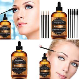Organic Castor Oil For Eyelashes And Eyebrows By Pure Body N