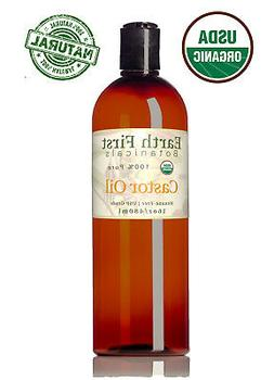 Organic USP Castor Oil - Cold Pressed, 100% Pure, Hexane Fre