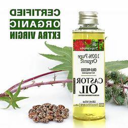 PURE CASTOR OIL 100% CERTIFIED ORGANIC COLD PRESSED HEXANE F