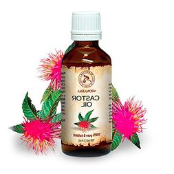 Castor Oil 100ml - Ricinus Communis Castor Seed Oil - India