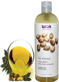 Now Solutions Castor Oil Pure Organic Cold Pressed for Hair