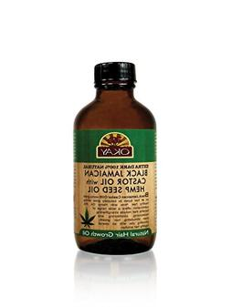 Okay Xtra Dark Black Jamaican Castor Oil with Hemp Oil, 4 Ou